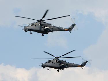Руски бойни хеликоптери транзит над България за Сърбия