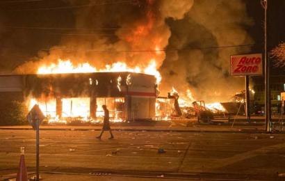 Пожар Минеаполис