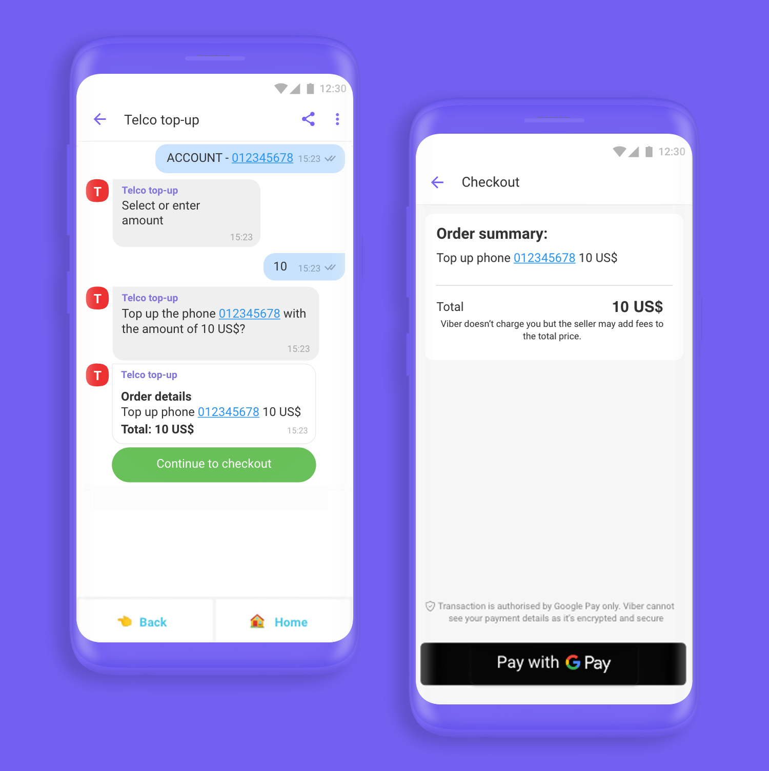 Viber ChatBot Payments