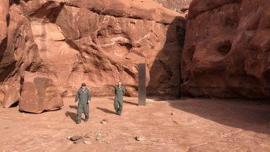 Откриха странен метален монолит в САЩ (снимки)