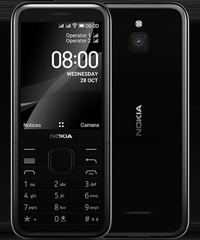nokia 8000-front back-onyx