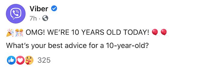 Viber на 10 г.