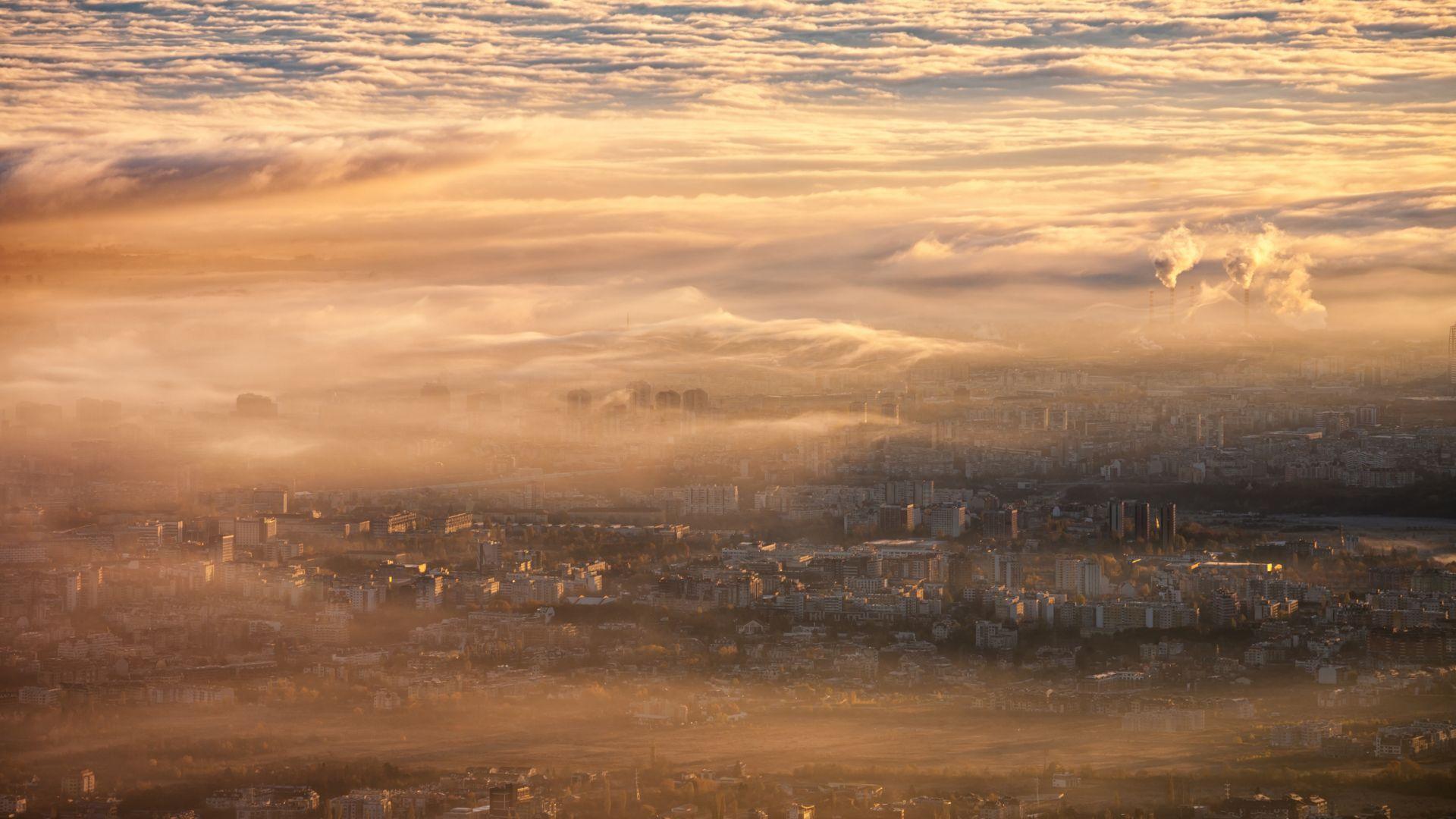 От високо се вижда какво е качеството на въздуха в столицата ни