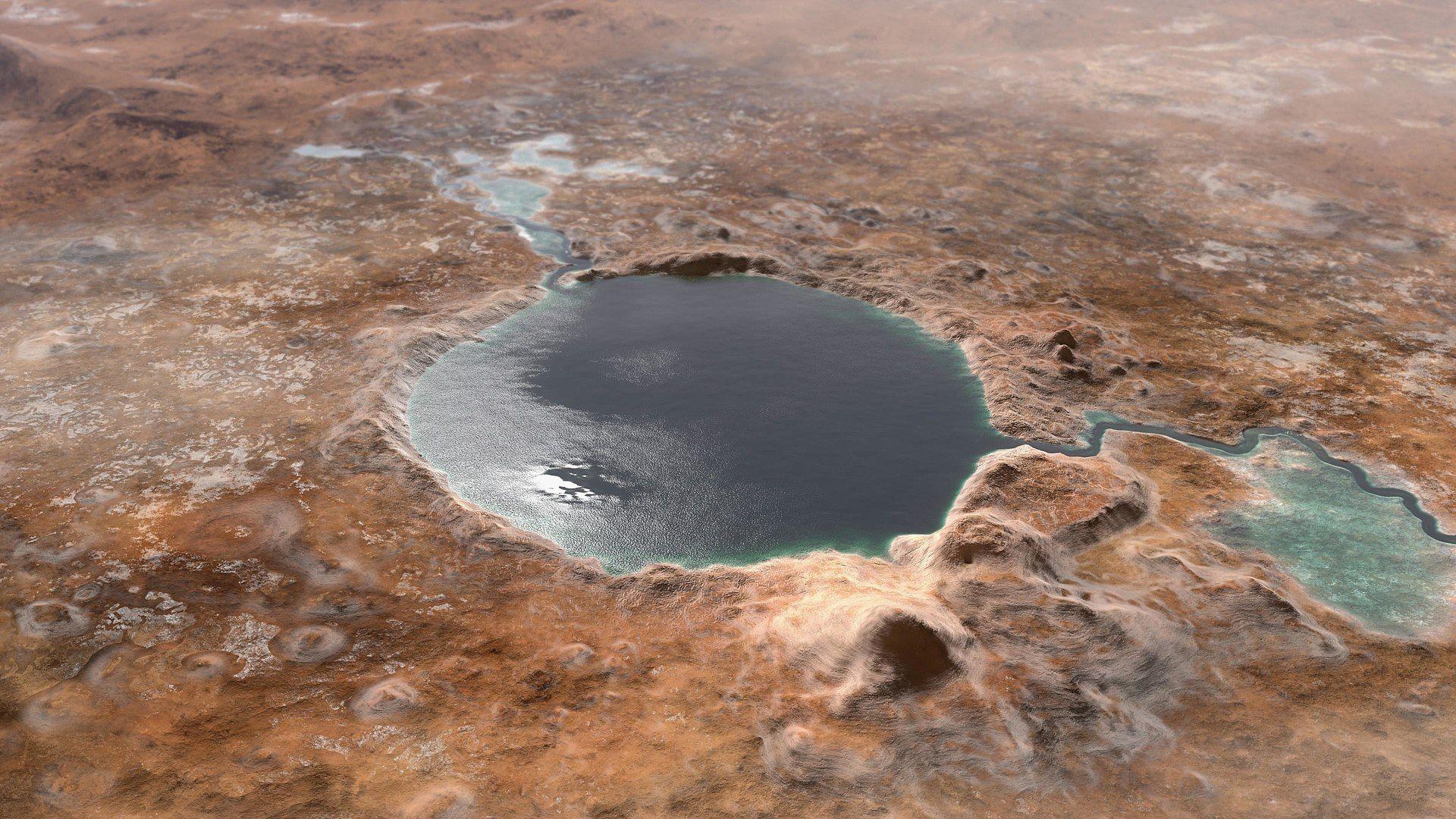 Преди 3 милиарда години кратерът Джезеро е бил езеро
