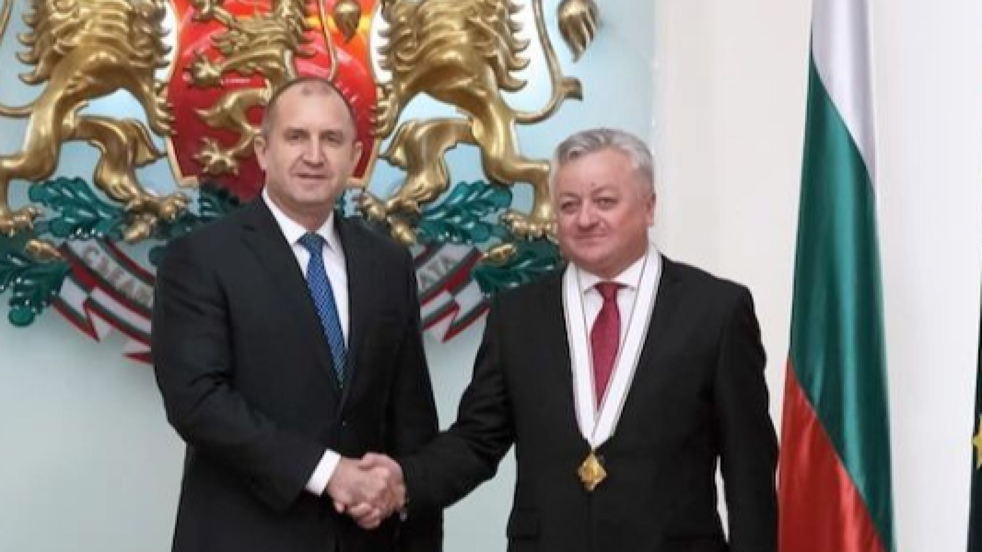 С молдовския посланик Щефан Горда