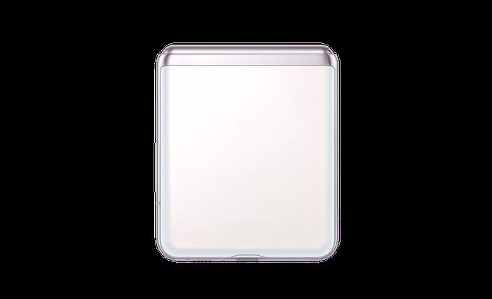 GalaxyZFlip5G ClosedBack Mystic White