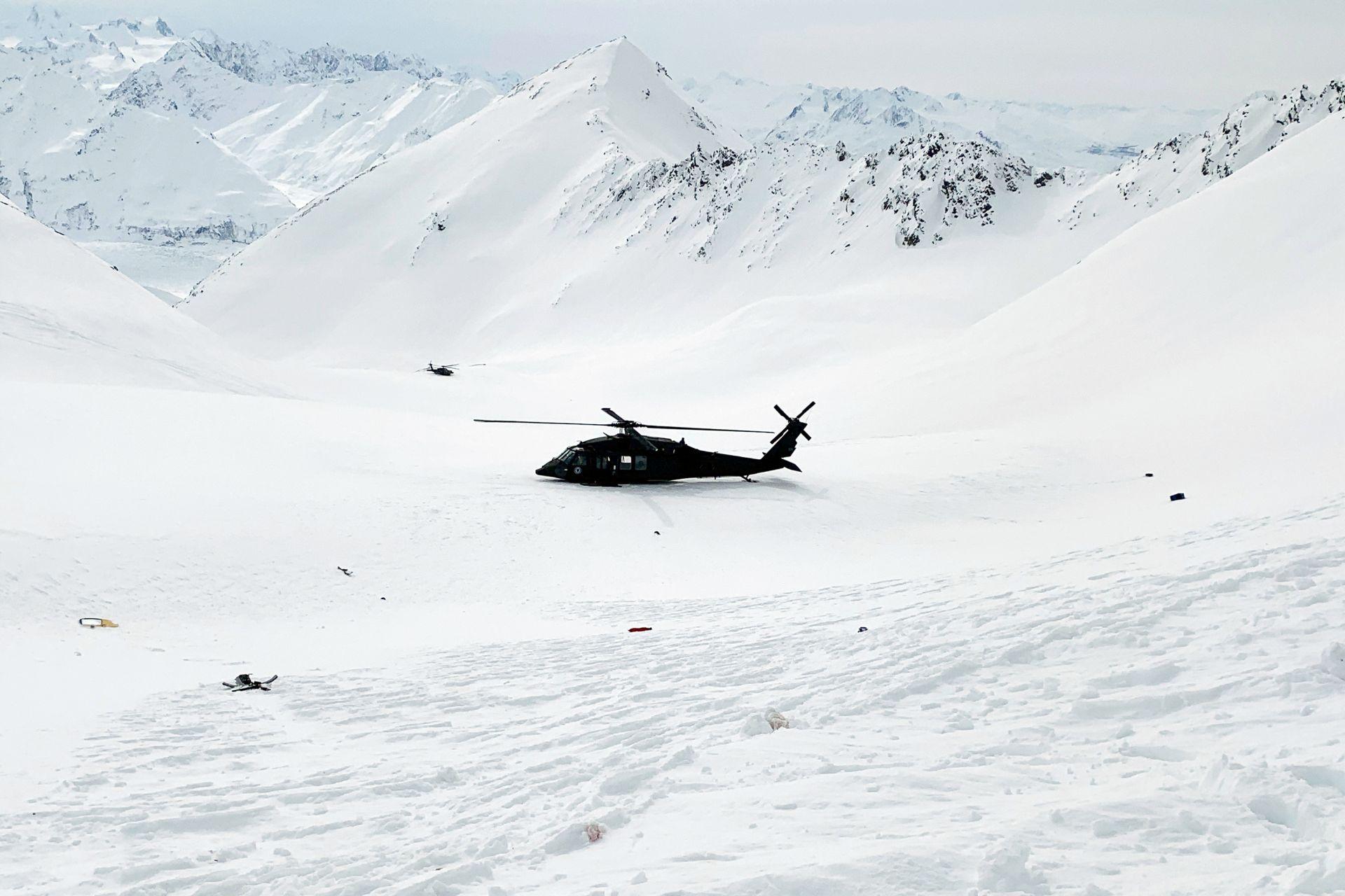 Хеликоптерът на спасителите