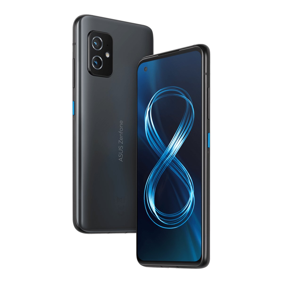 Obsidian-Black-ZenFone-8-with-blue-accent-on-power-button-and-8-on-display-09134257