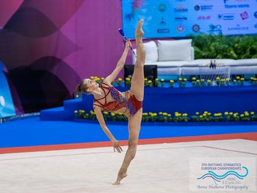 Боряна Калейн грабна среброто на Евро 21 по художествена гимнастика във Варна (ВИДЕО)