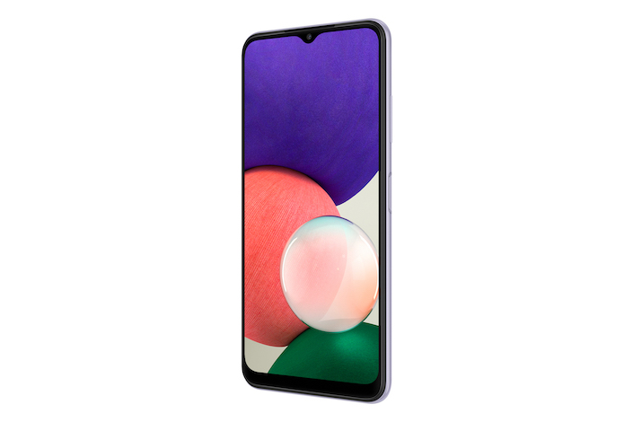 020 galaxy a22 5g violet front r30