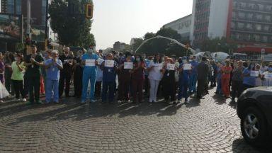Пироговци излязоха на протест в защита на Балтов, блокираха кръстовище