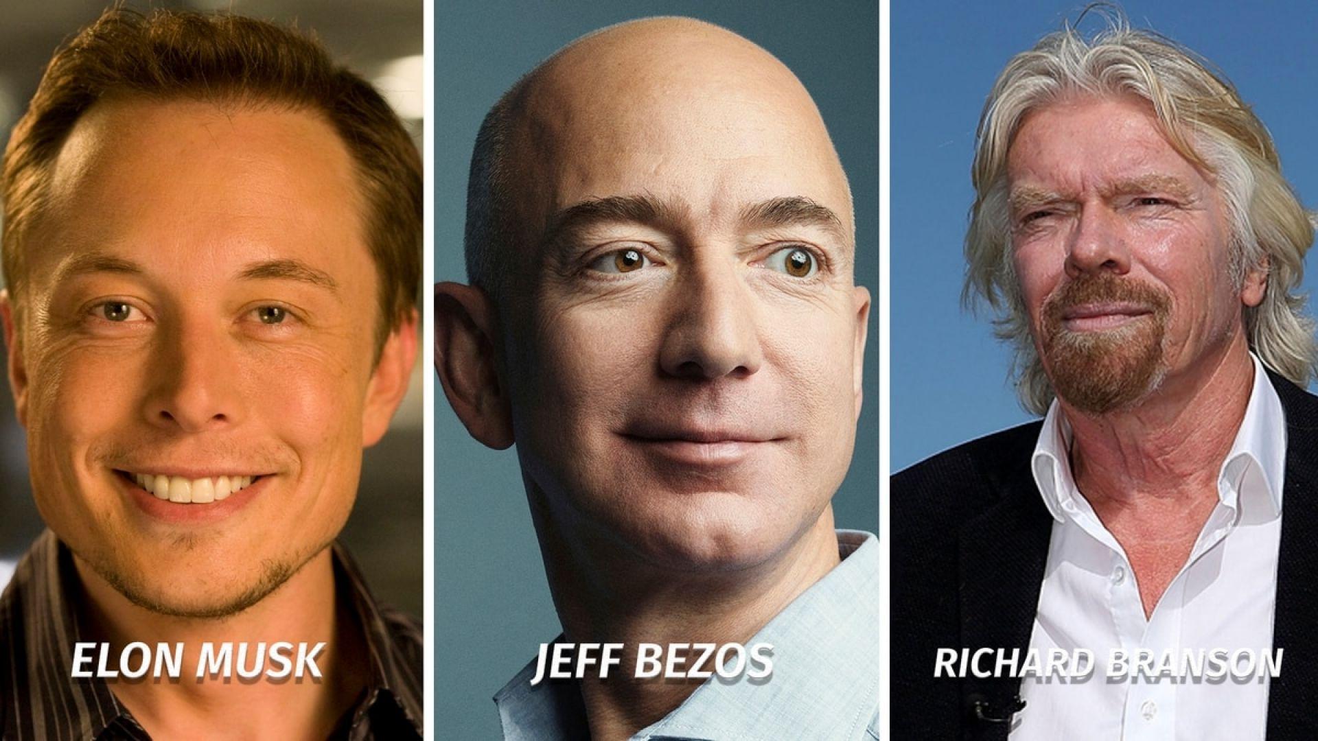 Джеф Безос, Илън Мъск и Ричард Брансън са пионерите, направили космическия туризъм по-достъпен