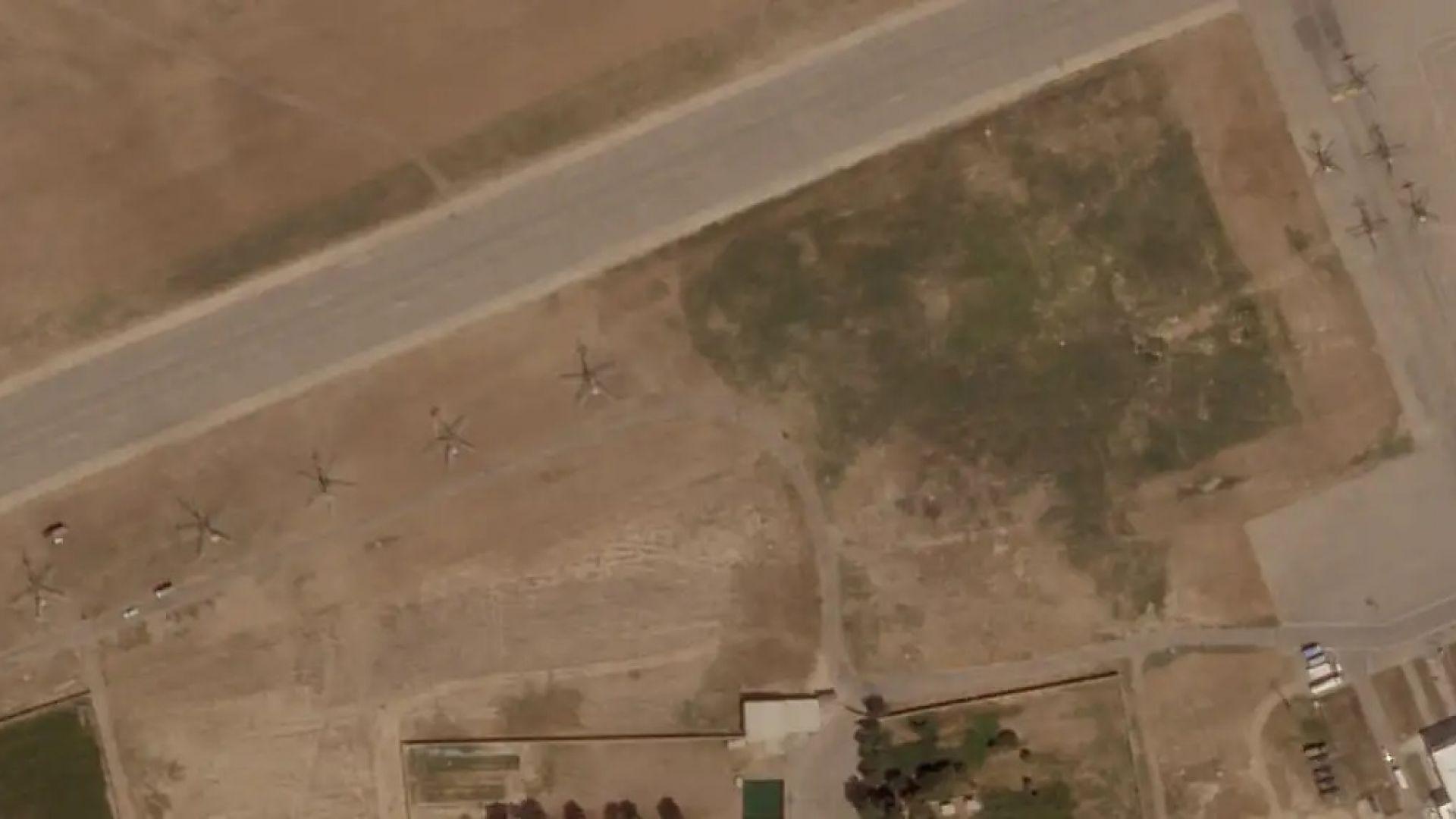Сателитни снимки разкриват, че в Узбекистан са дезертирали 46 самолета и хеликоптера на афганистанските ВВС