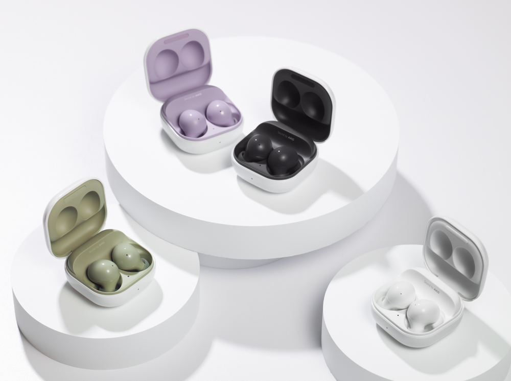008 galaxybuds2 family graphite white olive lavender