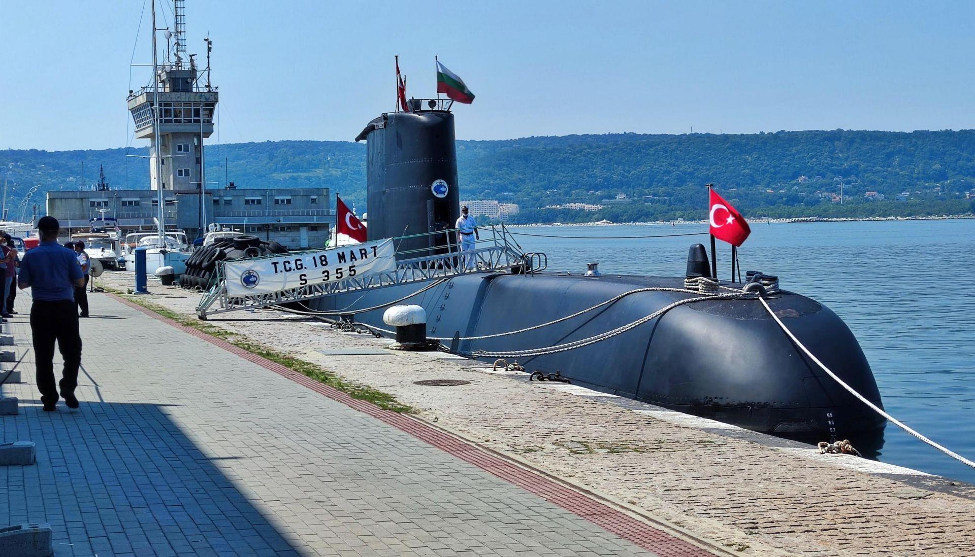 Турската подводница на