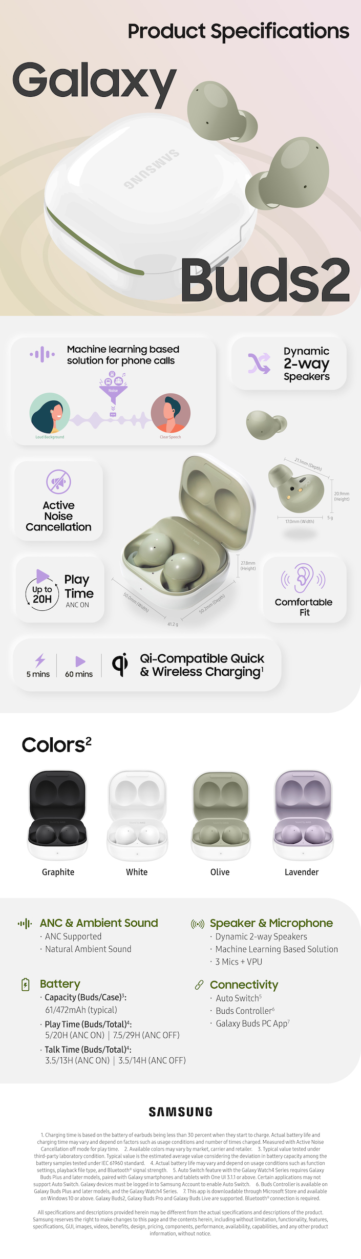 01 galaxy buds2 product specifications