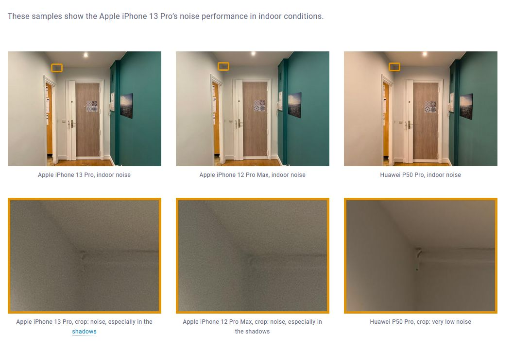 iPhone 13 Pro, сравнен с фото възможностите на други телефони